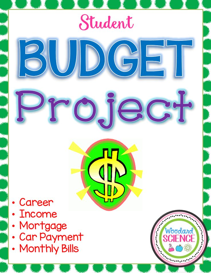 Budget Project Template Rubric Middle School Classroom