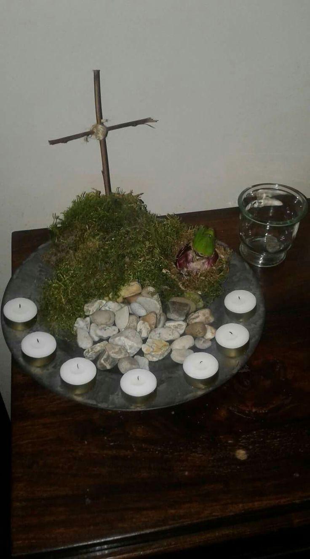40 stenen en 7 kaarsjes! Paasbelevingstijd!