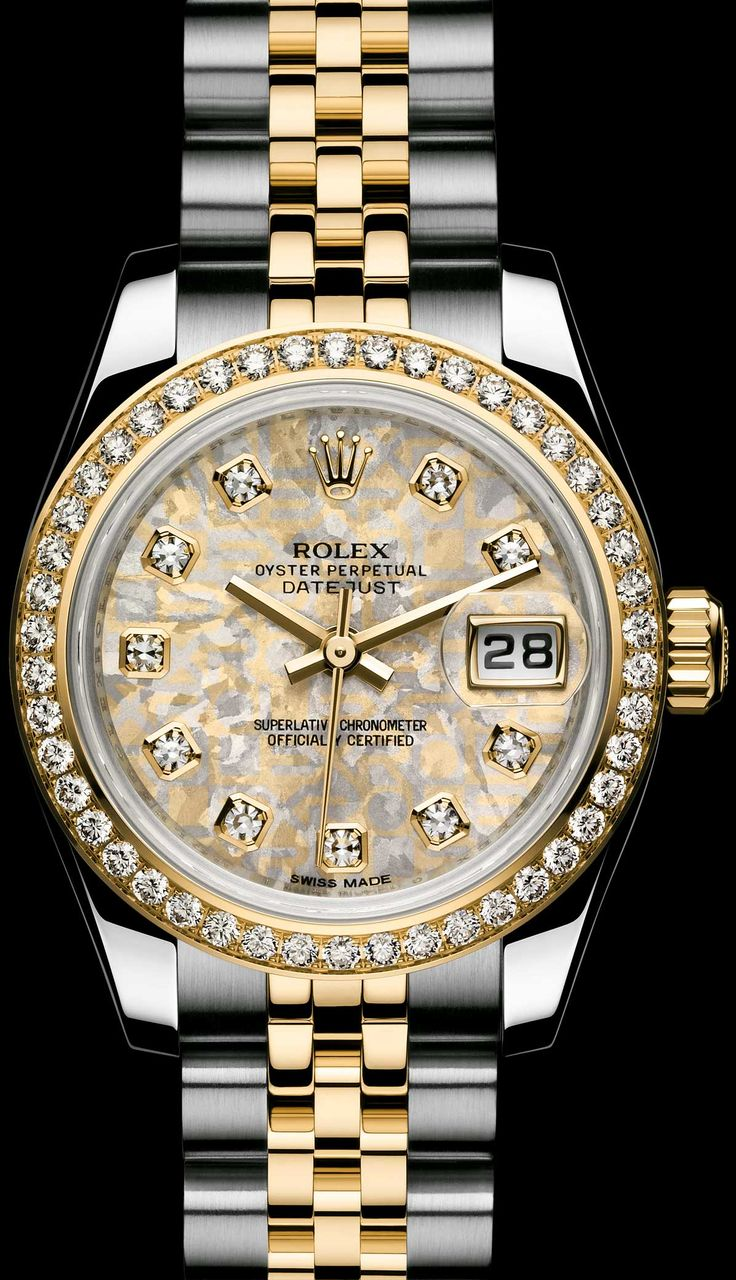 ROLEX LADY-DATEJUST: GOLD CRYSTALS DIAL - ROLEX Timeless Luxury Watches