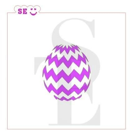 Easter Egg Chevron Stencil for Cookies, Cakes & Culinary