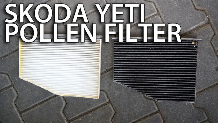 How to change pollen filter in #Skoda #Yeti (cabin air filter, #service) #cars #maintenance