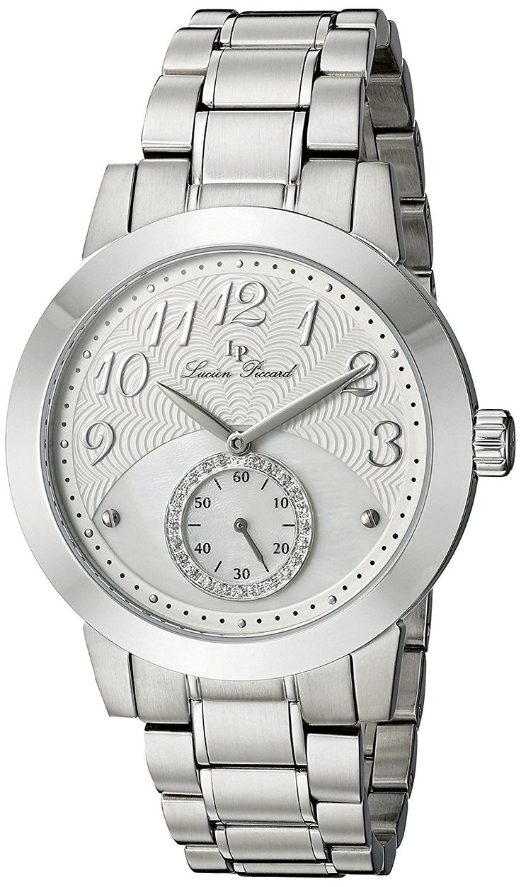 Lucien Piccard Women's 'Garda' Quartz Stainless Steel Casual Watch, Color:Silver-Toned (Model: LP-40002-22) -- Visit the image link more details.