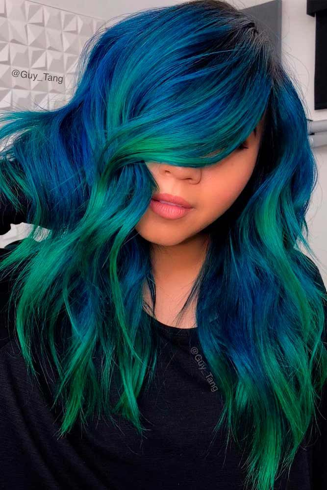 The Top Green Hair Color Ideas And How To Get Them Bright Blue
