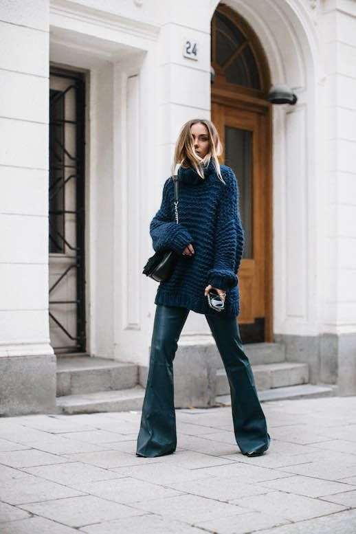 Blogger Style: Navy and Leather | Le Fashion | Bloglovin'