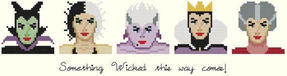 Disney's Famous Villains Cross Stitch by KeenahsCrossStitch