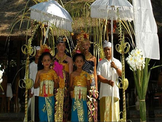 Traditional ceremony at The Pavilions, Bali.