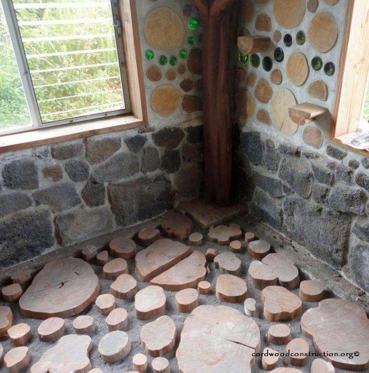 19 Cordwood Construction Diy Flooring Flooring