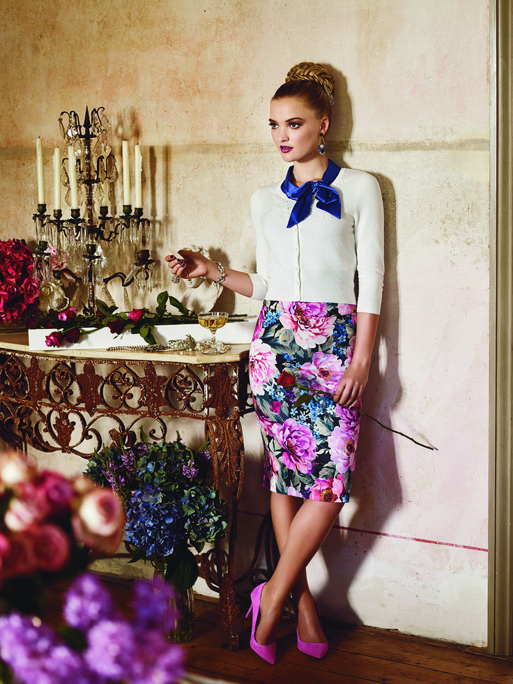 The Royce Top, Convent Garden Skirt & Davina Cardi