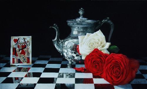 Queen's Tea by Arleta Pech. Transparent oils on board.