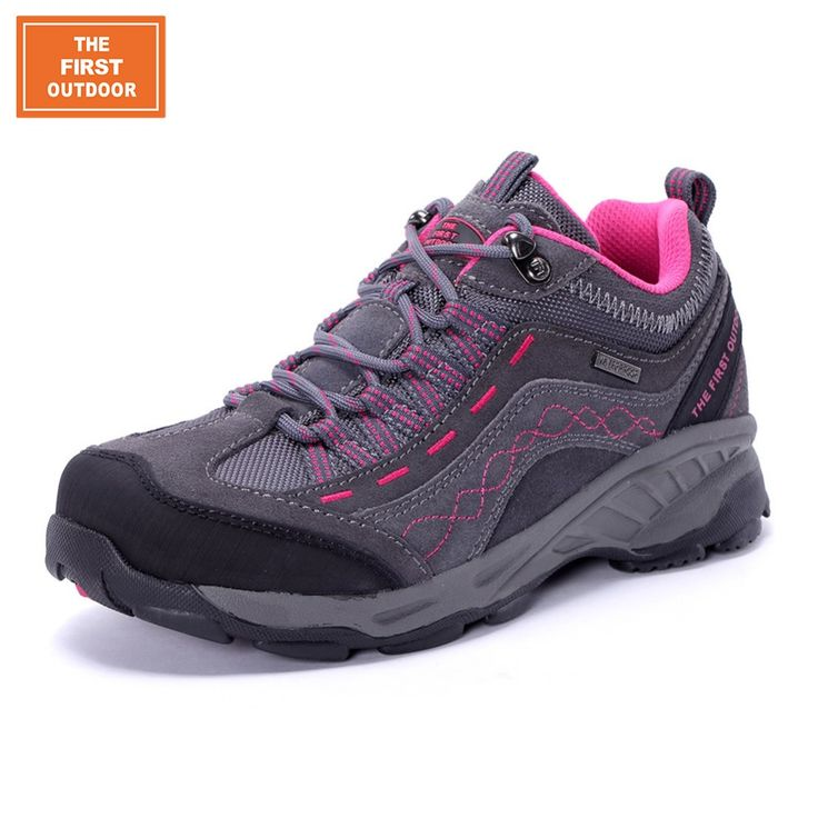 TFO Women Breathable Waterproof Hiking Shoes Trekking Shoes Leather Antiskid Cushioning Climbing Sneakers Outdoor Shoes 844556