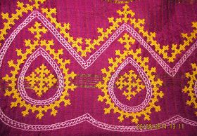 In the beginning of February this year, i have started to embroider a Kutch work saree and I have shown a small sample in a post here . E...