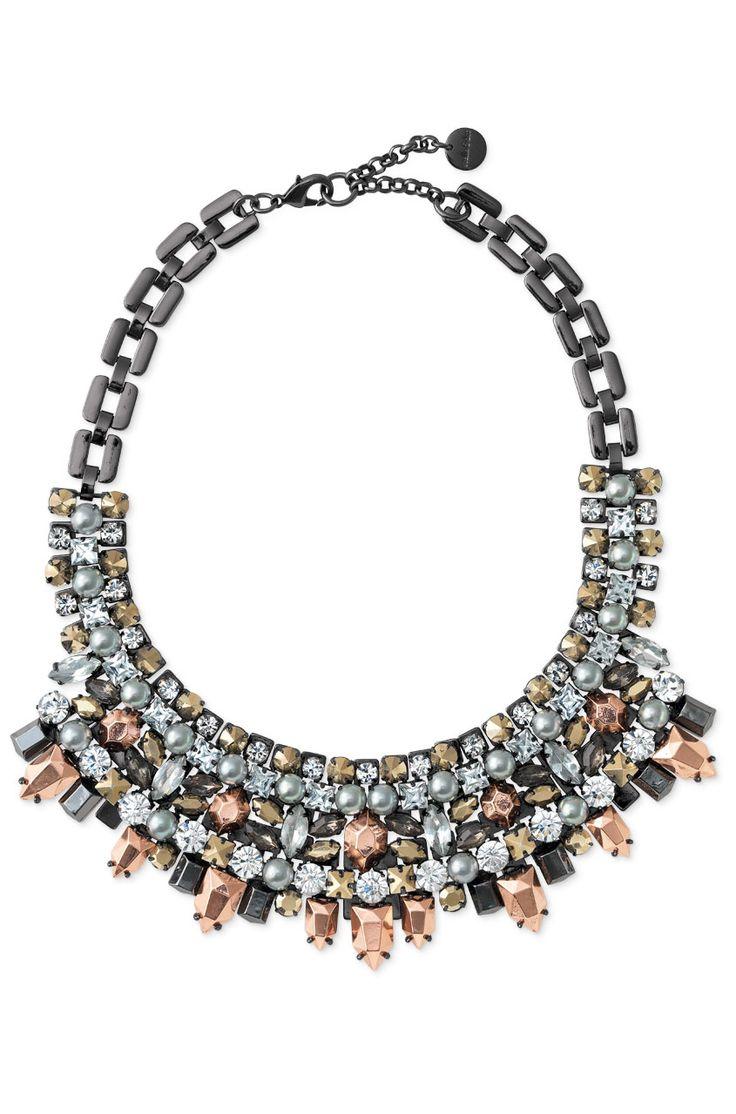 Stella & Dot Kahlo Bib Necklace   Mixed Metal & Stone Statement Bib Necklace