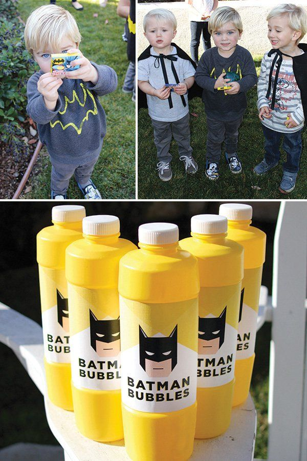 batman party favors and activities