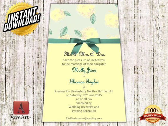 Hey, I found this really awesome Etsy listing at https://www.etsy.com/listing/233590565/instant-download-2in1wedding-card-fully