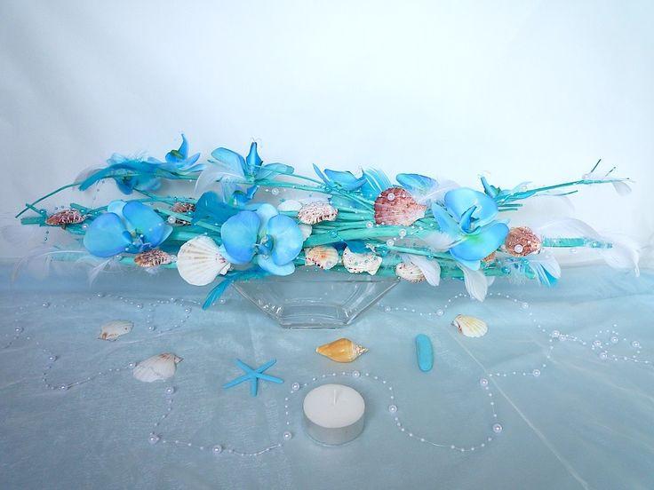 Les 12 meilleures images du tableau pivoine sur pinterest compositions florales centre de - Centre de table bleu turquoise ...