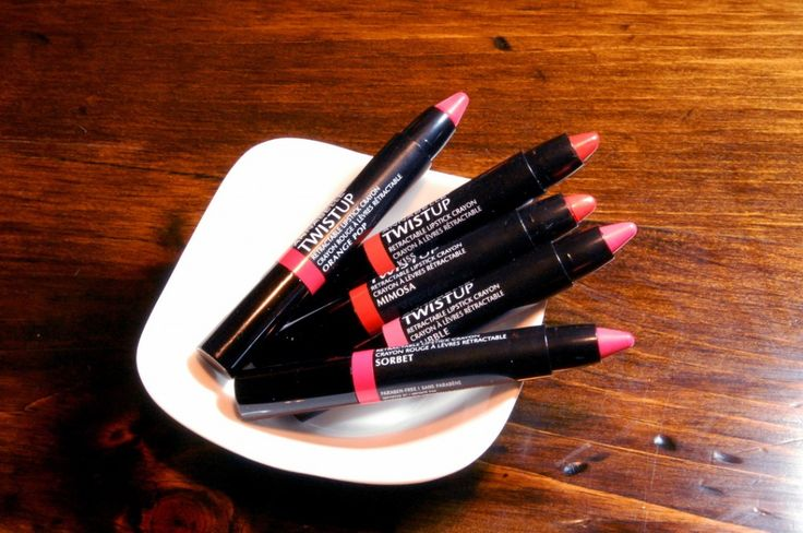 Annabelle Cosmetics TwistUp lipstick crayons in Oranges/Corals review