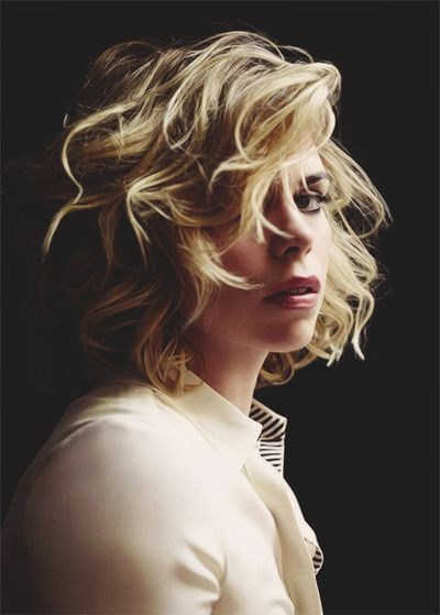 billie piper photographed by chris floyd This is exactly how I wish my hair was! Gah!