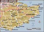 Map of Ashford