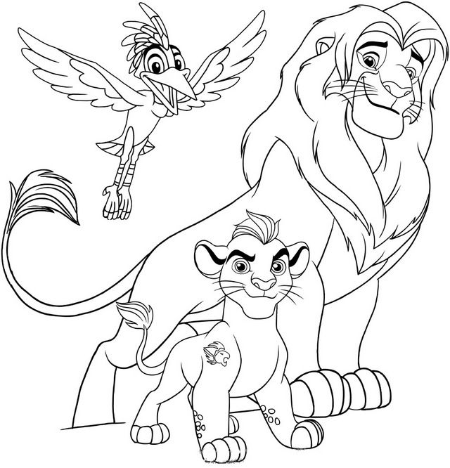 The Lion Guard Disney Coloring Pages Disney Coloring Pages Coloring Pages Lion King Fan Art