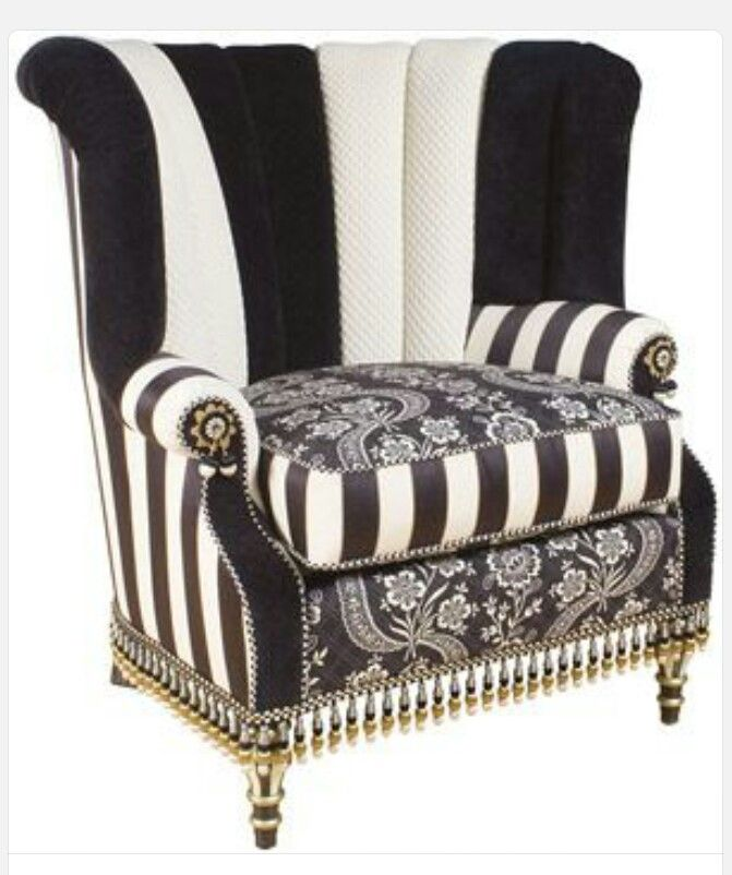 Fabulous Mackenzie Childs Chair In A Black Amp White Floral