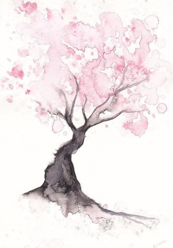 I love cherry blossoms and love this illustration