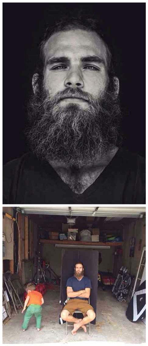 """If I want to take dramatic portraits on a black backdrop (without even needing a single light), a garage is your new go to spot. This is the simplest (and most makeshift looking) setup that I use. As you can see in the image above, all I am using is a piece of black foam core, folded into a """"v,"""" set inside a garage on a sunny day."""