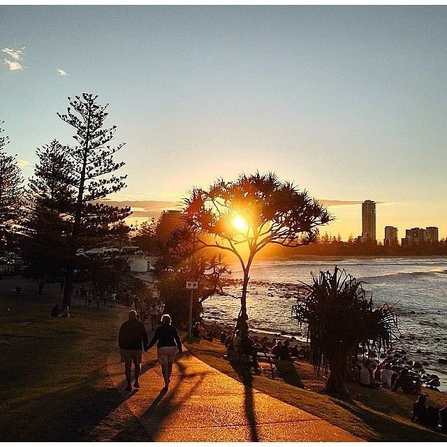 Sunset at Burleigh Heads Point, Gold Coast, Queensland, Australia with @danriego #visitgoldcoast