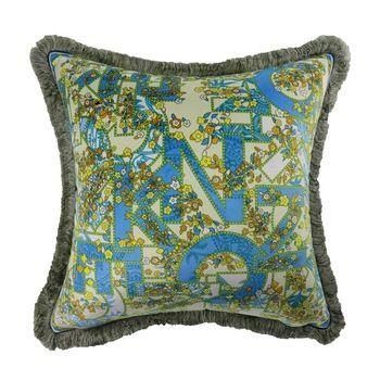 Colorful Printing Design Square Travel Pillow Sofa Decorative Throw Pillow
