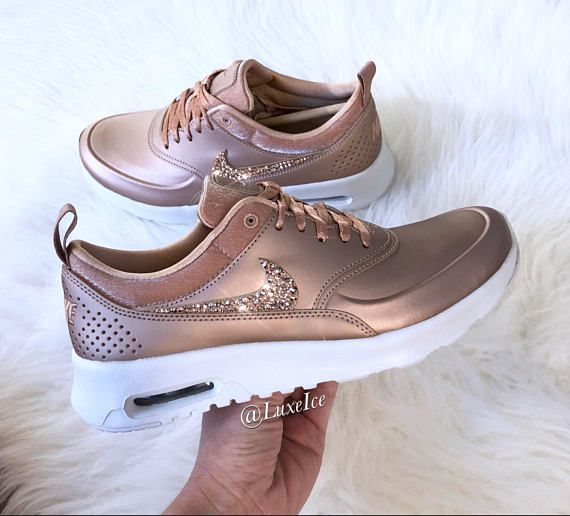 8222eb7af0 LIMITED Nike Air Max Thea SE with SWAROVSKI® Crystals- Metallic Rose ...