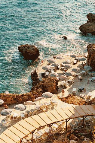 Cozy Beach in Positano / Amalfi Coast Italy
