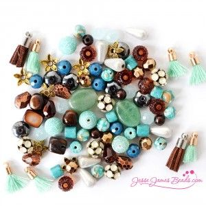 Jesse James Beads-Southwest Spirit-BlueBrownDesignElementsbeadmix
