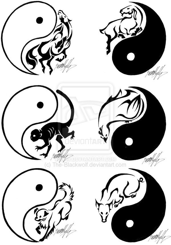 Chinese Zodiac Tattoos 2 by *The-Blackwolf on deviantART
