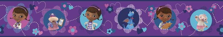 "Walt Disney Kids II Doc Mcstuffins and Friends 6"" Border Wallpaper"