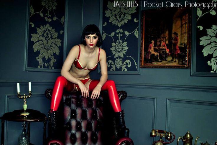 Photography Janis Ellis / Pocket Circus, Model Sakura, Latex by Catriona Stewart. Available at www.catrionastewartclothing.co.uk