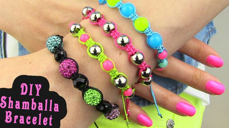 DIY Shamballa Bracelet! How To Make Macrame Bracelets. Learn how to make these beautiful bracelets with macrame knotting technique. All you need to make this bracelet is some string and beads. Have fun knotting!