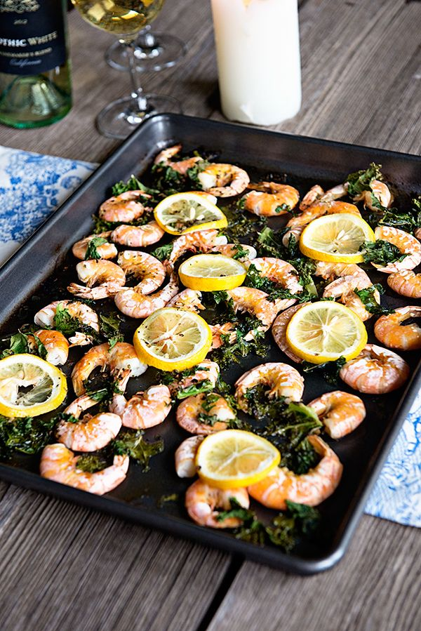 Lemon Kale Baked Shrimp. This looks yummy  tasty! Be prepared to muck your way thru the blog to get to the recipe. I was beginning to wonder if I was on the right page; but it's there... eventually...