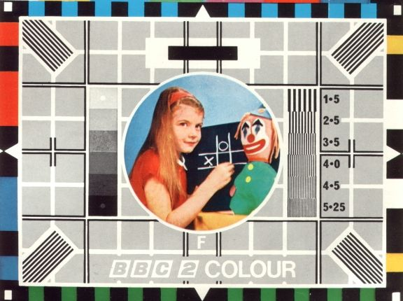 BBC Test Card - reminds me of getting up early to go to the airport!