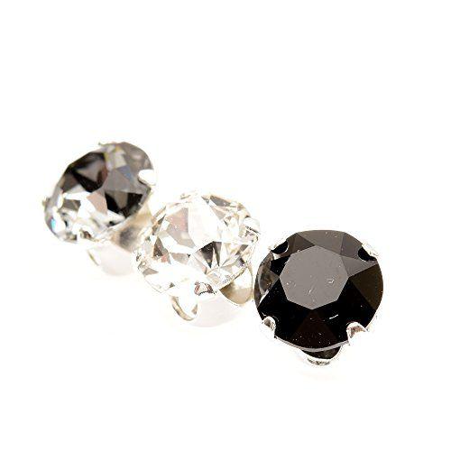 Boucle d'oreille homme faux diamant noir