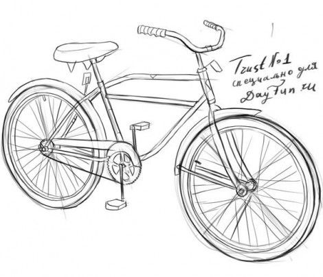 Велосипед фото как рисовать