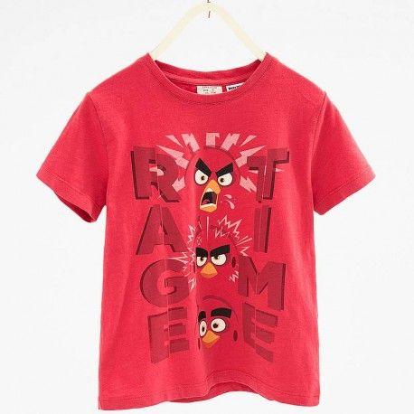 Zara piros Angry Birds póló.  Zara  red T-Shirt with Angry Birds.  www.ckf.hu  #ckf #coolkids #kidsfashion #kidsclothes #gyerekruha #zara #zarakids #angrybirds #tshirt #póló