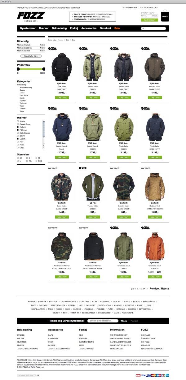 FOZZ. E-commerce website by Dennis Evers, via Behance