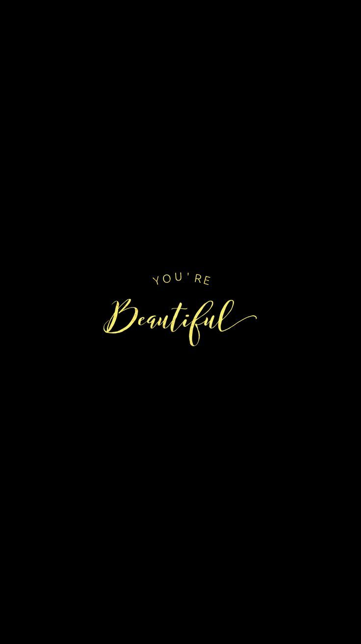 Pretty Positivity Beautiful Iphone Mobile Wallpaper Calligraphy Gold Edit Are You Looking For A B Black Phone Background Phone Backgrounds Iphone Wallpaper