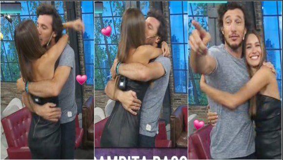 Pampita visitó a Pico Mónaco en TV besos y anuncio del horario de su nuevo programa en Telefe