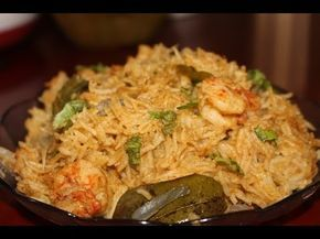 prawn biryani in Tamil -  Shrimp biryani recipe - chemmeen / eraal birya...