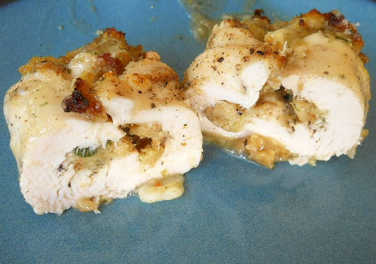 stuffed chicken breasts with stuffing recipe--made this tonight and it was delicious!