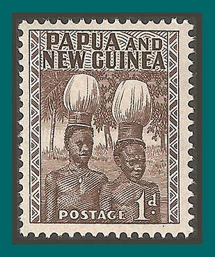 Papua New Guinea Stamps 1952 Buka Headdresses, mint