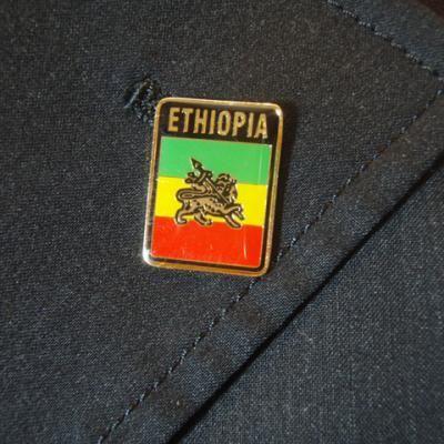 スーツに!レゲエピンバッチ★エチオピアRASTA