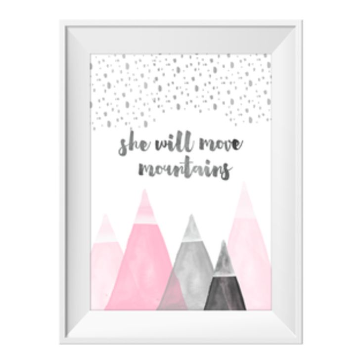 Move+Mountains+Pink+|+Sizes+Available+by+Toucan+Art+Prints+on+POP.COM.AU