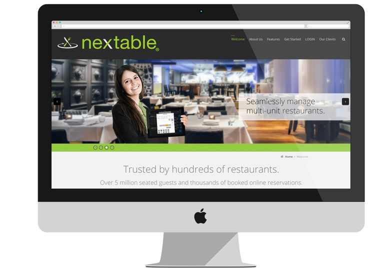 NexTable already had their table management system application built, but needed support with brand, design concepts and someone to create their website, promotional and training videos, as well as marketing materials such as newsletters, a trade show booth design, sales brochures and t-shirts.