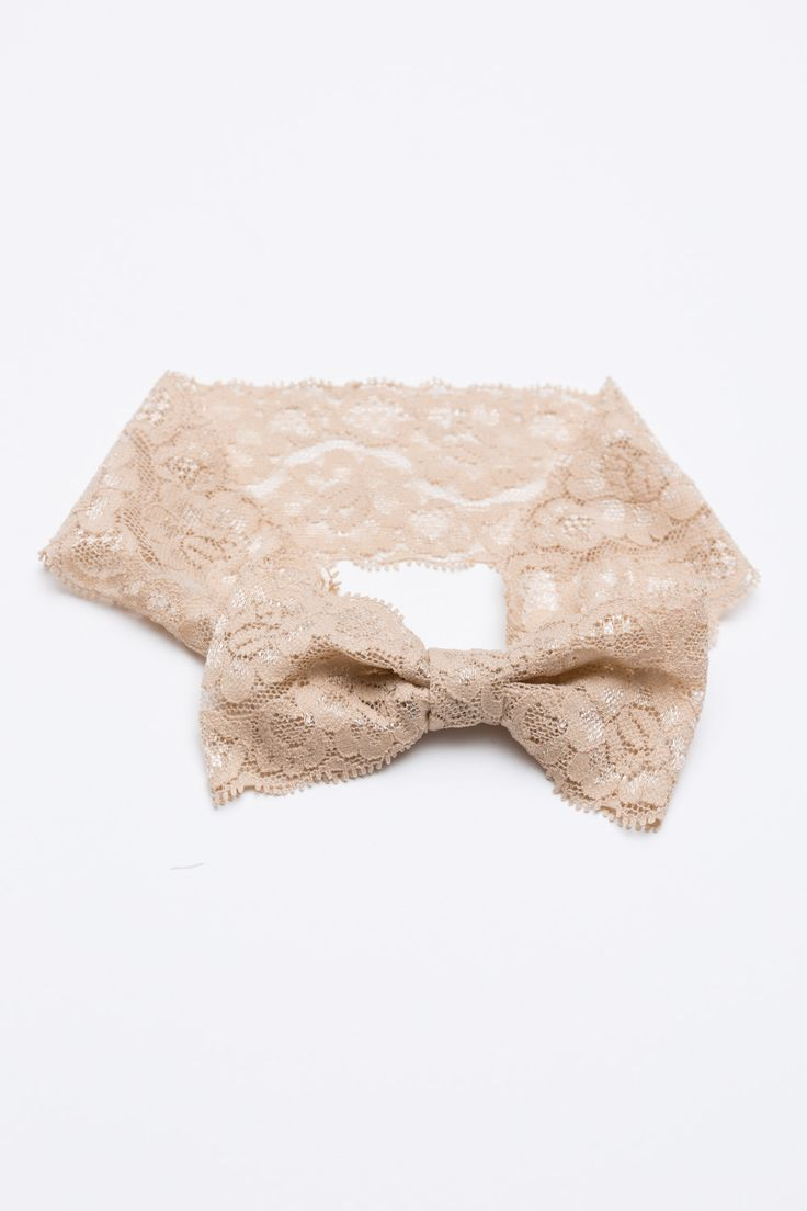 "Gorgeous, lace bow headband. - Circumference: 15"" - Lace width: 2.3"" - Bow: 4.5-5"" - Comfort fit."